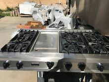 48  Viking Stainless Gas Range Top  6  griddle in Los Angeles