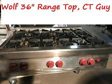 Wolf 36   Stainless Gas Range Top  6 burners