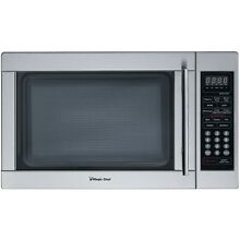 Magic Chef 1 3 Cu  Ft  1000W Countertop Microwave Oven  Stainless Steel Silver