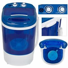 Small Semi Automatic Compact Washer W  Timer Control Single Translucent Tub