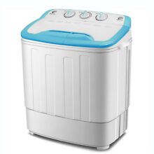 Mini 13lbs Portable Washing Machine Twin Tub  Laundry Compact Washer Spin Dryer