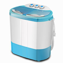 Portable Mini 10lbs Washing Machine RV Dorm Laundry Compact Washer Spin Dryer