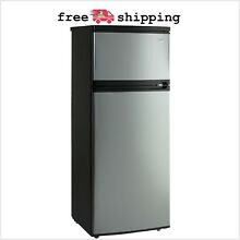 7 4cu ft Top Freezer Apartment Refrigerator Black Platinum Stainless Appliances