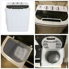 Portable Mini Washing Machine Compact Twin Tub 13 Lbs Washer w  Spin Cycle Dryer