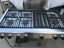 48  Thermador Stainless Gas Range Top  6  grill  stainless pan   in Los Angeles