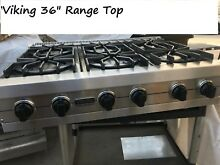 Viking 36  Stainless 6 burner Gas Range Top