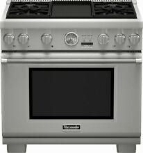 Thermador Pro Grand Professional Series  PRG364JDG 36 Inch Pro Style Gas Range