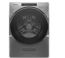 Whirlpool 4 5 CuFt Front Load Washer with Steam Clean in Chrome Shadow