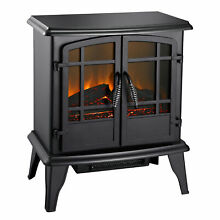 Pleasant Hearth SES 41 10 Matte Black Electric 20in Wood Stove Heater