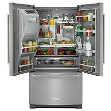 NEW Kitchenaid Stainless French Door Refrigerator Exterior Ice Water KRFF707ESS