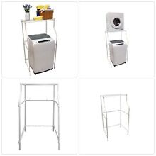 MAGIC CHEF Laundry Storage Rack Washer Dryer Appliance Stand Compact Space Saver