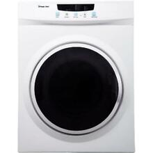 Compact Electric Dryer White 3 5 cu ft Laundry Apartment Appliance Space Save