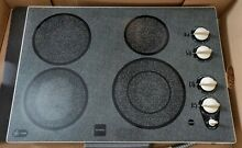 GE Profile Electric Radiant Cooktop 30  Black and Beige Excellent Condition
