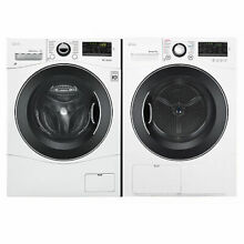 LG   WM1388HW  DLEC888W   Compact FL Washer and Stackable Ventless Condensing