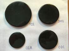 Whirlpool KitchenAid Gas Range Burner Cap SET of 4  F01 D01 01A 01C  Black