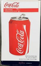 Coca Cola Mini Fridge 12V DC 110V AC Holds 12 Cans Thermoelectric Cooler