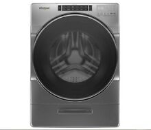 Whirlpool 5 0CuFt Front Load Washer with Load   Go System in Chrome Shadow
