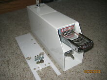 COMPLETE Washer Dryer Genuine Whirlpool Coin Box Armor Timer Greenwald 8 Slide