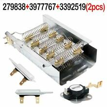 NED4600YQ1 AMANA DRYER HEATING ELEMENT  THERMOSTAT AND FUSE KIT Whirlpool Kenmor