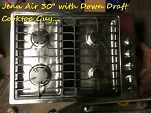 Jenn Air 30  Stainless Gas  Cooktop With Down Draft  in Los angeles