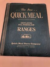 Quick Meal Stove Range Porcelain Cooker Catalog American Stove Co  Catalog Book
