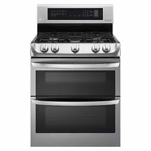 LG 6 9 cu  ft  Gas Double Oven Range ProBake Convection  EasyClean   LDG4313ST