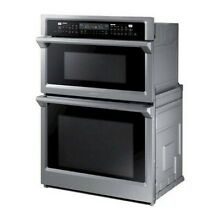 Samsung NQ70M6650DS 30  Stainless Microwave Combo Wall Oven