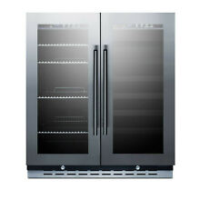 Summit SWBV3067B Stainless Steel 30  Built In Dual Zone Wine and Beverage Center
