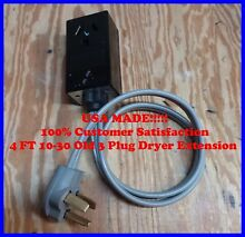 New 4ft Extension Cord for 10 30 3 prong Old Style DRYER Connection Leviton USA