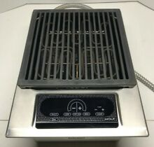 Wolf 15  Stainless Steel Electric Grill Module IG15S Indoor  outdoor Grilling