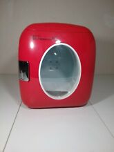 Uber Portable UB XL1 RED Chill 12 Can Retro Personal Mini Fridge Red