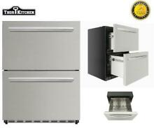 24 Thor Kitchen HRF2401U Under Counter Built in Outdoor Drawer Refrigerator