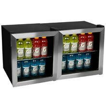 EdgeStar BWC70SSDUAL 124 Can Side by Side Beverage Coolers with Extreme Cool