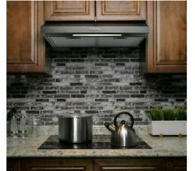 ADKY 24 Inch 58 CFM Under Cabinet Convertible Range Hood in Black Stainless Stee