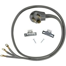 New Certified Appliance Accessories 90 1022 3 Wire Eyelet 30 Amp Dryer Cord  5ft