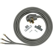 New Certified Appliance Accessories 90 1028 3 Wire Eyelet 30 Amp Dryer Cord  10f