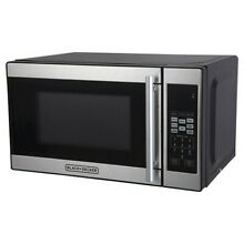 BLACK DECKER 0 7 cu ft 700W Microwave Oven   Black EM720CPN P