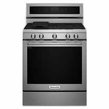 KitchenAid KFGG500ESS 30 Inch 5 Burner Gas Convection Range Stainless Steel