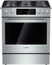Bosch HDI8054U 800 Series 30 Inch Slide in Dual Fuel Range Stainless Steel