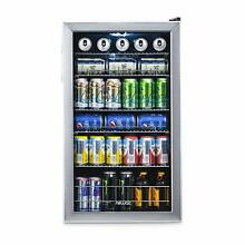 Beverage Cooler Refrigerator  Mini Fridge Glass Door  Perfect Soda Beer Wine