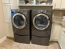 Maytag 5000 series w  Steam gas dryer Model MGDE500WJ1 large capacity w pedestal