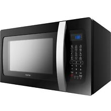 HOmeLabs Countertop Microwave Oven   1 3 Cu  Ft  1050W  Black with One Touch Co