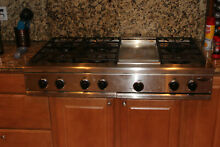 USED 48  PROFESSIONAL DCS 6 BURNER WITH GRILL GAS COOK TOP LOCAL PICKUP ONLY