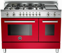 Bertazzoni PRO486GDFSRO 48 Inch Pro Style Dual Fuel Range with 6 Sealed Burners
