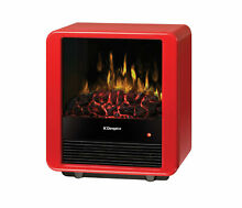 Dimplex DMCS13R 13  Mini Cube Compact Electric Stove with Realistic Flames