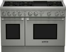 Thermador PRG486GDH 17 48 Inch Pro Style Gas Range with Convection griddle