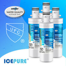 4 PACK Fit For LG LT1000P ADQ747935 MDJ64844601 Water Filter Cartridge Icepure
