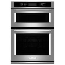 KitchenAid KOCE500ESS 30  Combination Wall Oven with Even Heat  True Convection