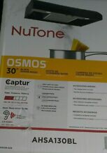 NuTone Osmos 30 Inch Convertible Under Cabinet Range Hood with Light in Black