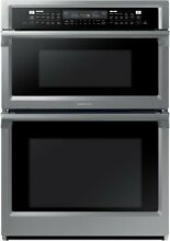 Samsung NQ70M6650DS 30  Microwave Combination Wall Oven Stainless Steel Wi Fi